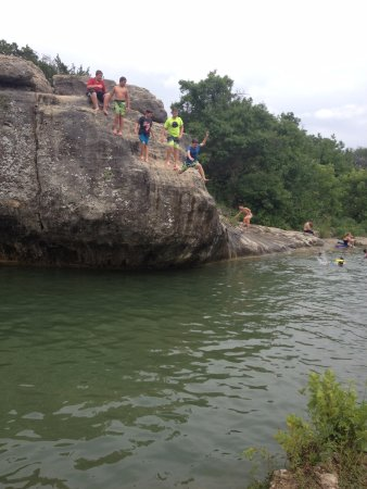 Crawford, TX: Local teens cliff diving
