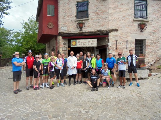 Hotel Belvedere: Cyclists converge on site that has produced the region's best cheeses for 700 years.