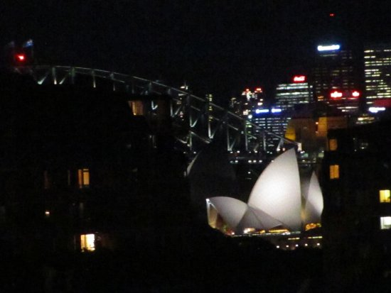 Regents Court Sydney: opera house and harbour bridge from rooftop deck