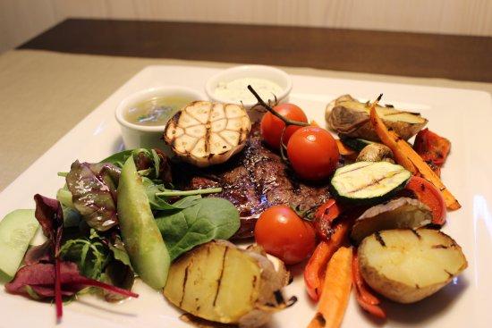 Talsi, Letonia: Homemade beef entrecote steak