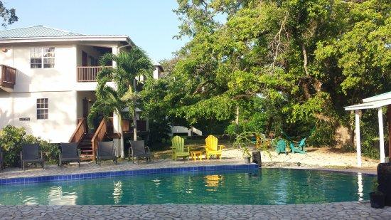 Burrell Boom, Belize: Piscina nel tardo pomeriggio