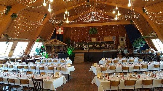 Grande salle de la Croix Blanche Treyvaux mariage Picture of