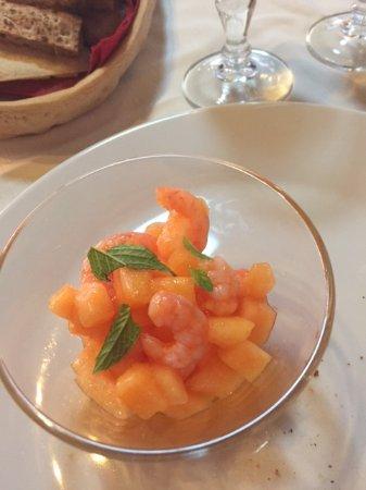 RISTORANTE ROCCA JA: gamberetti e melone