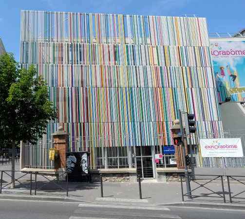 Vitry-sur-Seine, France: Façade de l'Exploradôme
