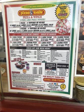 Chatham, Kanada: menu
