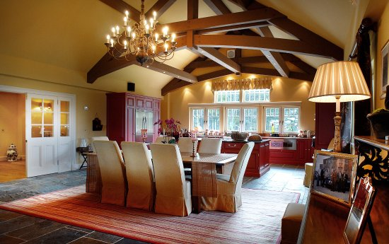 Archerfield House: Our lodge kitchen/dining rooms