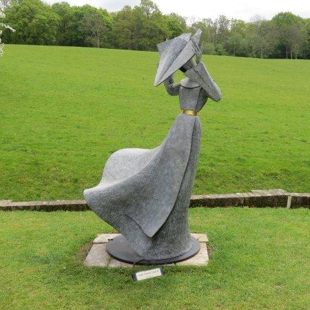 Ticehurst, UK: Nun on windy day