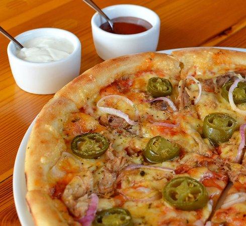 Bilgoraj, Poland: Pizza Pulled Pork BBQ - sezonowa