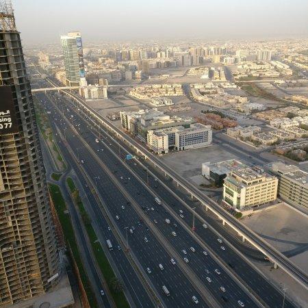 Fraser Suites Dubai: View os Sheikh zayed road