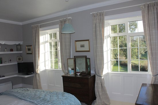 Bratton Fleming, UK: View from by the bed in Jeeves