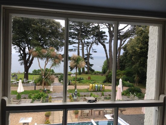 Porthallow, UK: Great view from our window