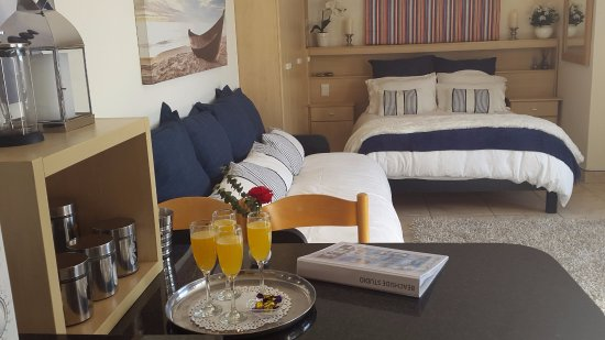 Gordon's Bay, Sydafrika: Seaside Studio with queen bed and sleeper couches for children