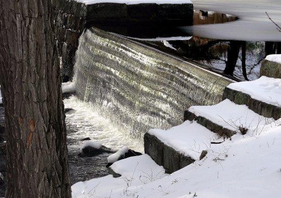 Chocorua River Dam across the street