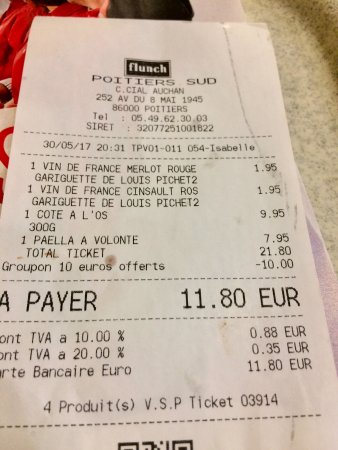 Ticket Restaurant Auchan