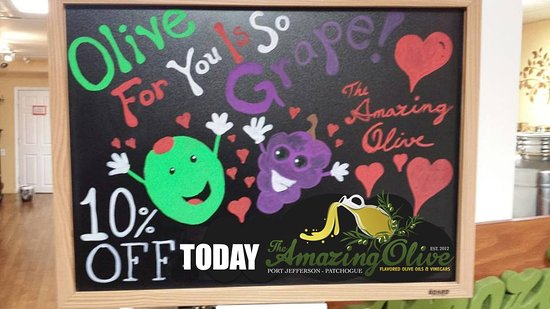 Patchogue, Nowy Jork: olive for you is so grape