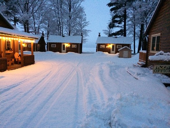 Houghton Lake, MI: 4 seasons of fun - X-C Ski, Snowmobile, Ice-Fish, play in the rec building, relax by your firepl