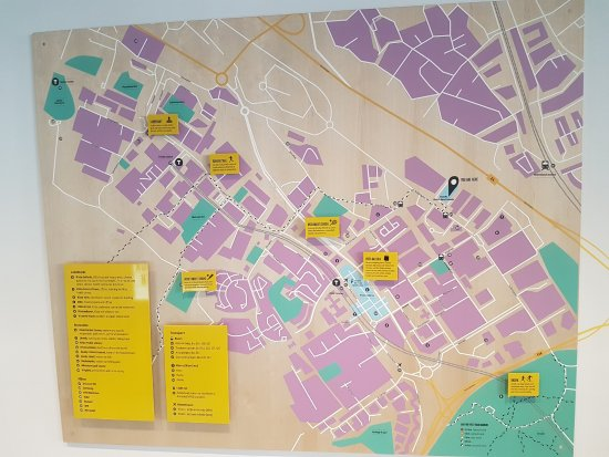 Kista, Suecia: map of area in reception