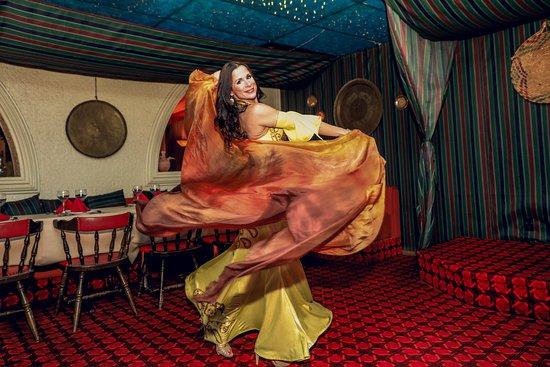 The Aladdin Restaurant : Belly dancing every Saturday night!