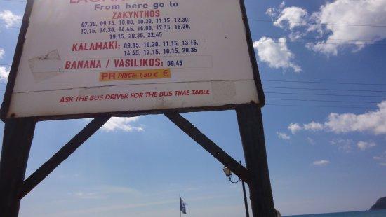 KTEL Zakynthou - Public Bus: Rozkład jazdy