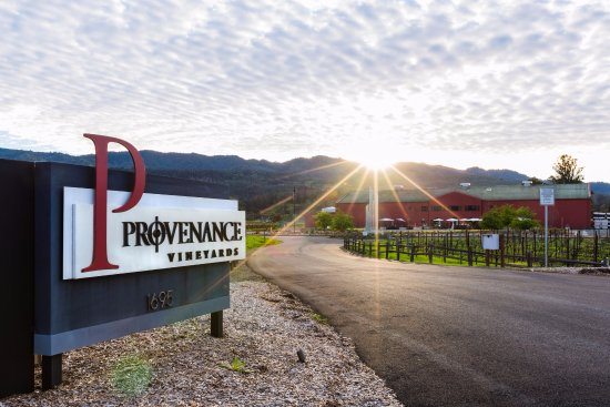 Rutherford, CA: Entrance to Provenance Vineyards