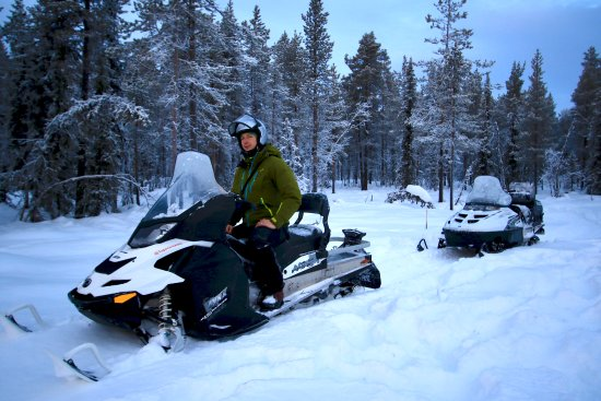 Stockholm, Sweden: Throughout the wilderness by snowmobile.