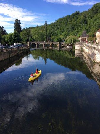 Kayaking around Brantôme