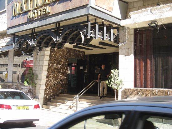 National Hotel Jerusalem: l'entrée de l'hôtel