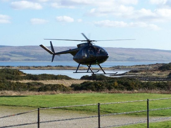 Isle of Gigha, UK: Visitors By Helicopter