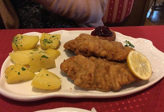 Johnsbach, Austria: Schnitzel vom Steirer Rind
