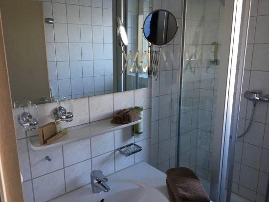 Großbettlingen, Deutschland: Waschbecken und Dusche