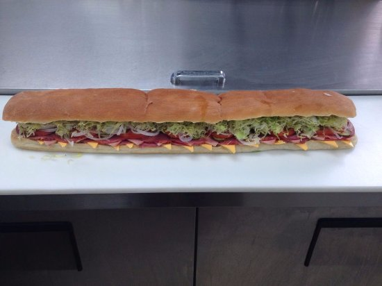 Gwinn, MI: Family sized subs! Order one of these and it feeds 3-4 people!