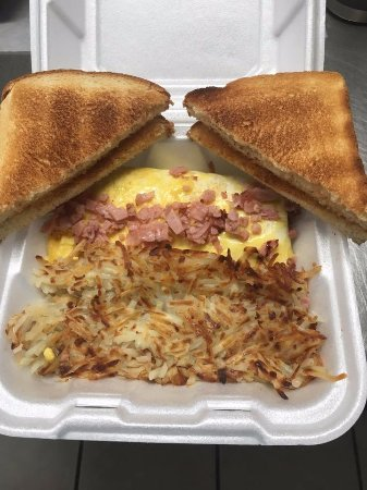 Gwinn, MI: One of our new breakfasts (to go). We now are open for breakfast all week! :)