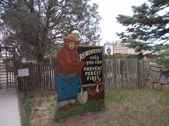 Smokey Bear Historical Park, Capitan NM. Thanks Smokey.