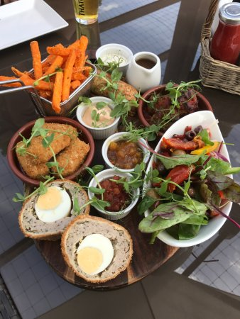 Bicker, UK : A range of tapas on offer at the Red Lion