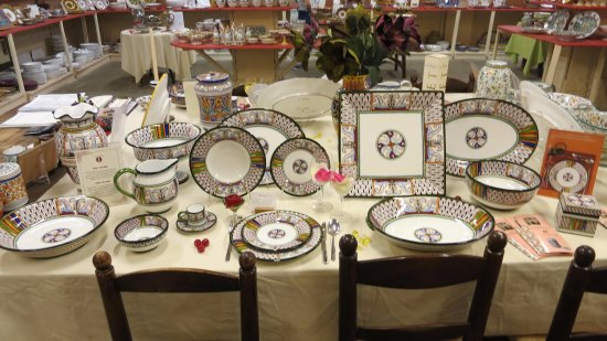 Grazia Maioliche A complete place setting of beautiful dinnerware. & A complete place setting of beautiful dinnerware. - Picture of ...