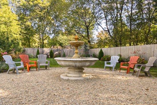 Marblehead, MA: Garden and Fountain Area