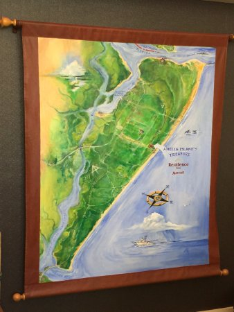 Residence Inn Amelia Island: Amelia Island map lobby wall