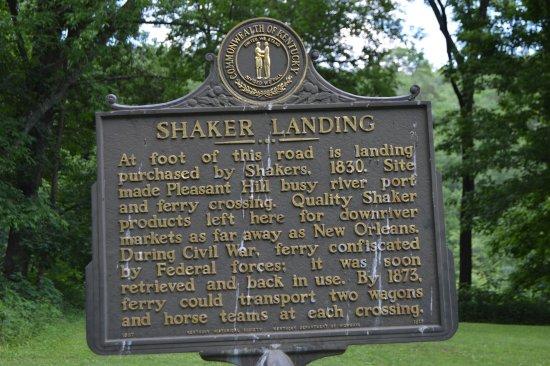Harrodsburg, KY : Sign at Shaker Landing