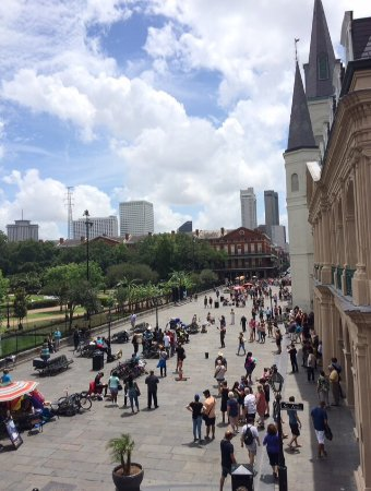 Muriel's Jackson Square : The view from Muriel's balcony