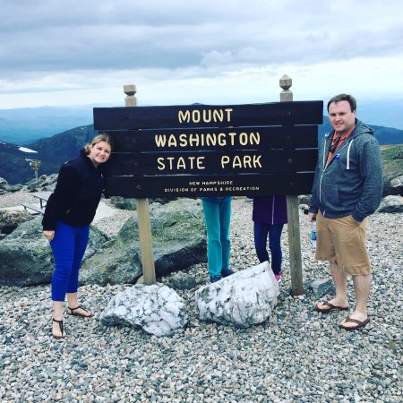 Mount Washington Auto Road: By the Sign Proving We Did It