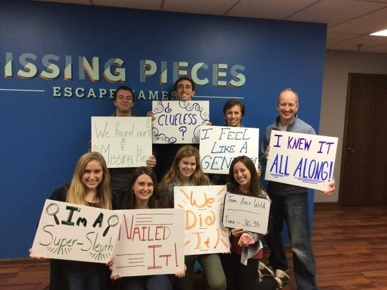 Edina, MN: Missing Pieces Escape Games can host up to 8 people in each room