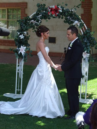 Reynella, Australia: A beautiful Wedding at St Francis winery where I officiated as Berenice The Cove Celebrant.