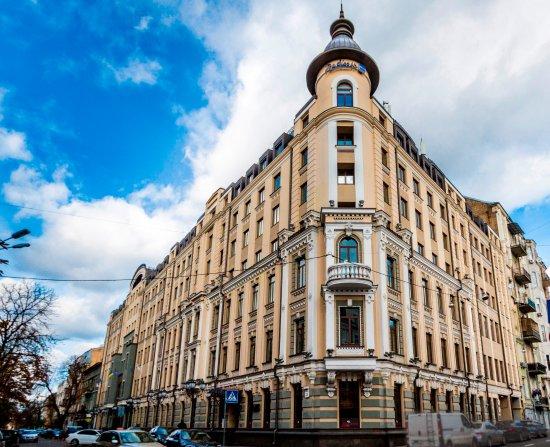 Central location of the Radisson Blu Hotel, Kyiv