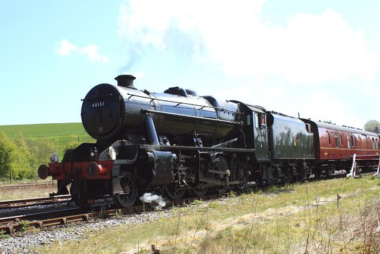 Hellifield, UK: West Coast Railways takes over the train for the onward journey to Carisle.