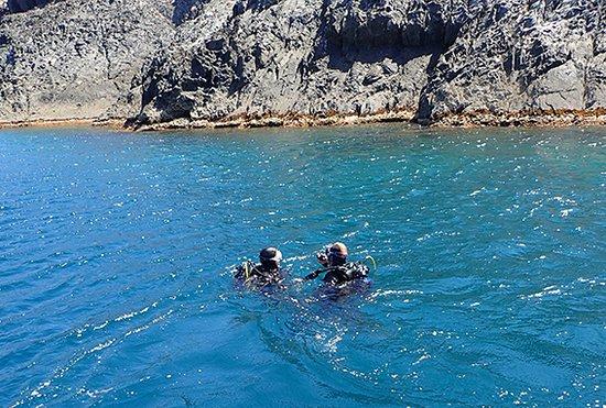 Colera, Spania: Baptême de plongée