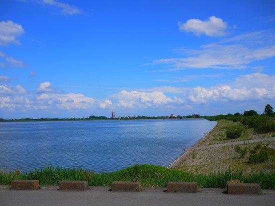 Nogi-machi, Япония: 遊水地です。天気が良い日は茨城県側もよく見えます