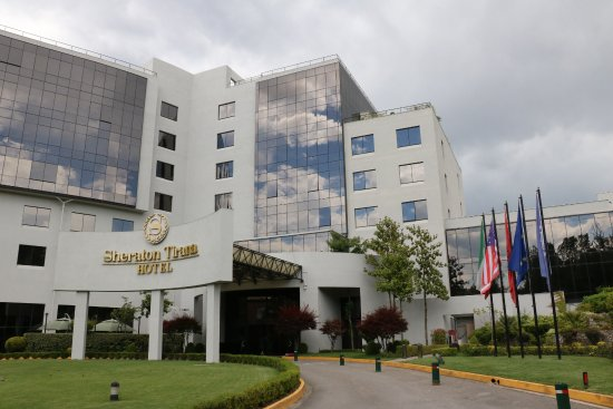 Front entrance of Sheraton Tirana Hotel
