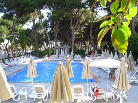 blick von der terrasse auf den pool picture of hotel riu festival playa de palma tripadvisor. Black Bedroom Furniture Sets. Home Design Ideas