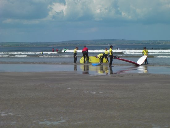 Enniscrone, Ireland: All set to catch a wave on the Wild Atlantic Way.  Great place to try surf.  Beautiful sandy bea