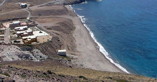 Playa Cabo De Gata: View Looking Down From Road